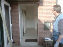 Oude voordeur uitgebroken